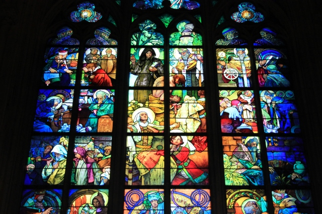 St Vitus's Cathedral Stained Glass Window