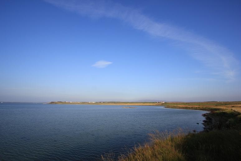 Looking Back Across Loch Indaal Twoards Bowmore
