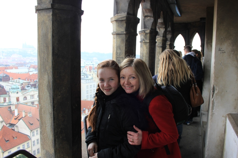 Deb and Catherine at Old Town Hall Tower