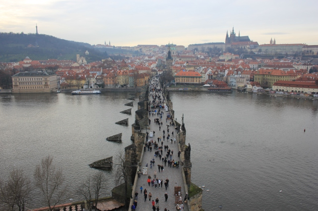 Charles Bridge from Old Town Bridge Tower