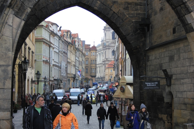 Underneath the Lesser Town Bridge Tower