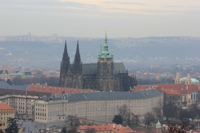St Vitus's Cathedral from Petřín Observation Tower