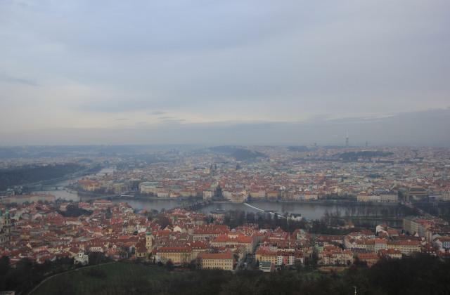 Prague View from Petřín Observation Tower
