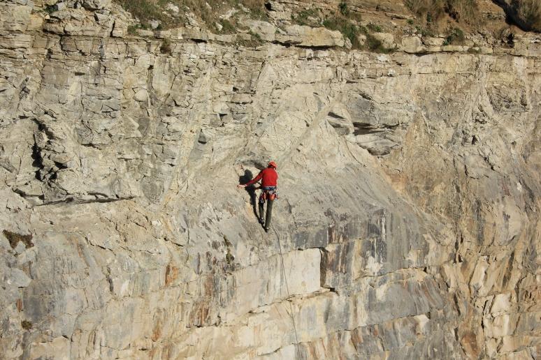 Climber at Dancing Ledge