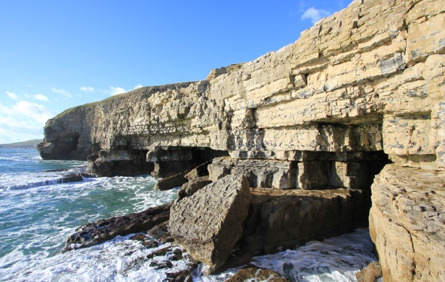 Caves at Dancing Ledge