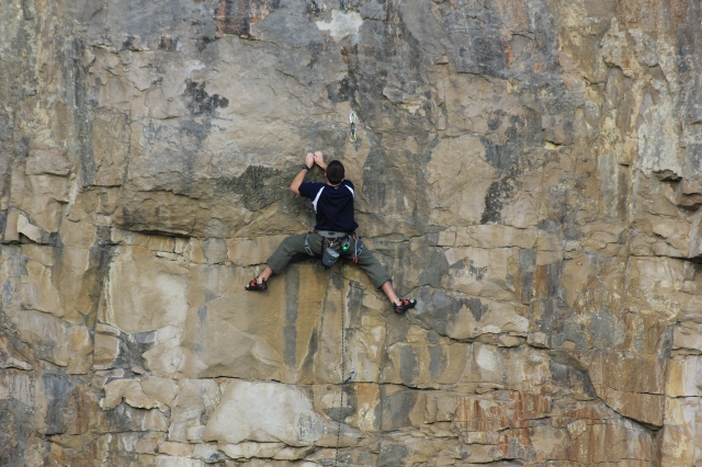 Climber at Dancing Ledge