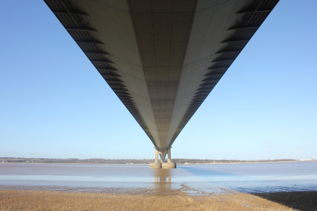 Underneath the Humber Bridge