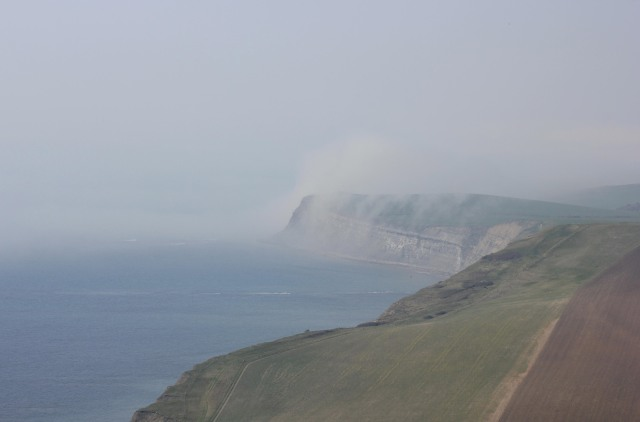 Mist Rolling In Over the Kimmeridge Ledges
