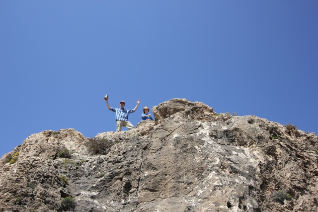 Climbing a Giant Boulder at Qammieh