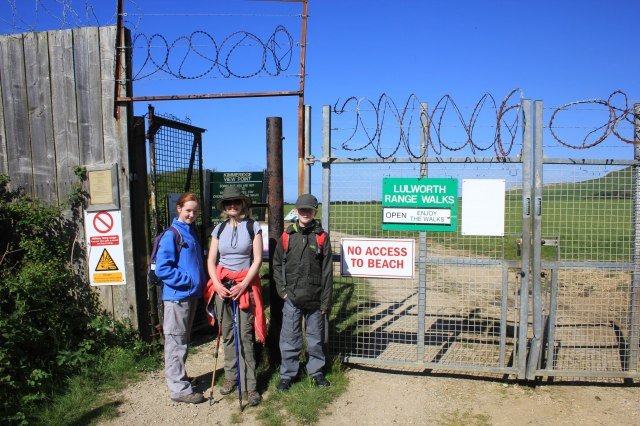 Entering the Lulworth Range Walks