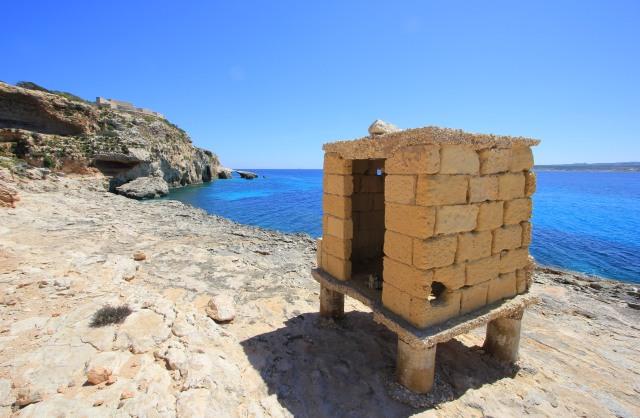 Hut at Southern Comino