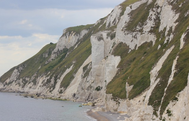 Precarious looking Cliffs on the Approach to White Nothe