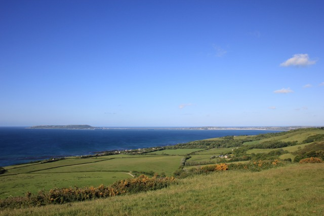 Looking from Ringstead to Portland