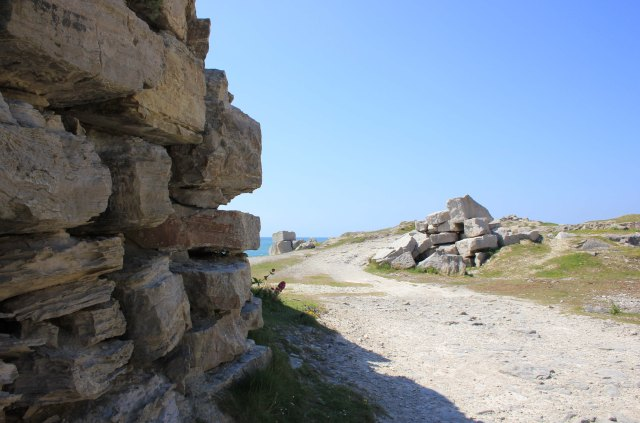 Quarried Rock on the Approach to Portland Bill