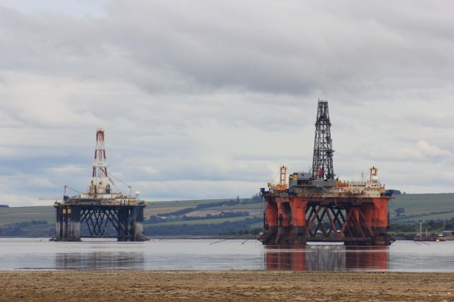 Oil Rigs on the Cromarty Firth