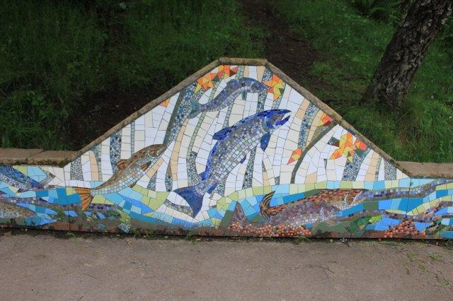 Mosaic at the Falls of Shin